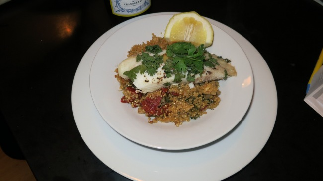 Lemon Garlic Tilapia with Sundried Tomato Quinoa