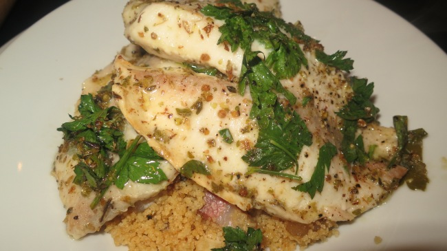 Fish Fillets baked with lemon and oregano