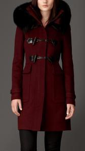 Fur Detail Duffle Coat - Burberry