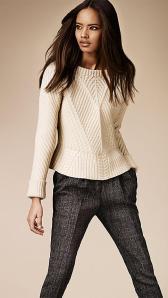 Merino Wool Peplum Sweater - Burberry