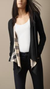 Reversible Waterfall Jersey Cardigan - Burberry