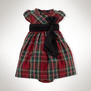 Tartan Silk Taffeta Dress with Bloomers - Ralph Lauren
