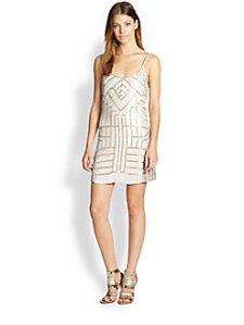 Parker - Hayden Sequined Silk Dress