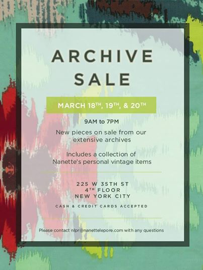 Nanette Lepore Archive Sample Sale